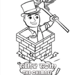 Tiny Tom the Chimney Sweep coloring book page